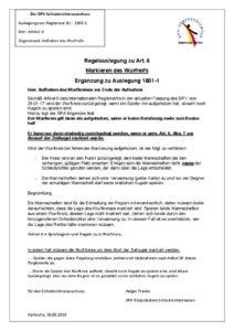 thumbnail of Regelauslegung 1905-1 Artikel 6 Zusatz